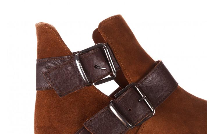 Botki bayla-195 19k-802 vizon brown 195020, brąz, skóra naturalna  - zamszowe - botki - buty damskie - kobieta 9