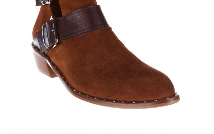 Botki bayla-195 19k-802 vizon brown 195020, brąz, skóra naturalna  - zamszowe - botki - buty damskie - kobieta 8