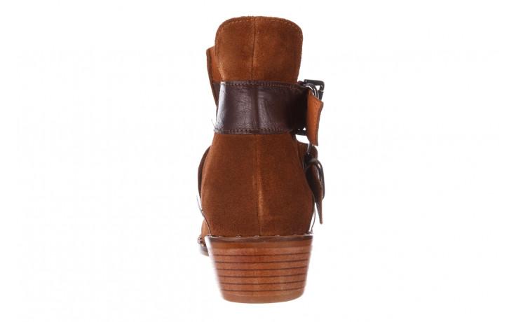 Botki bayla-195 19k-802 vizon brown 195020, brąz, skóra naturalna  - zamszowe - botki - buty damskie - kobieta 10