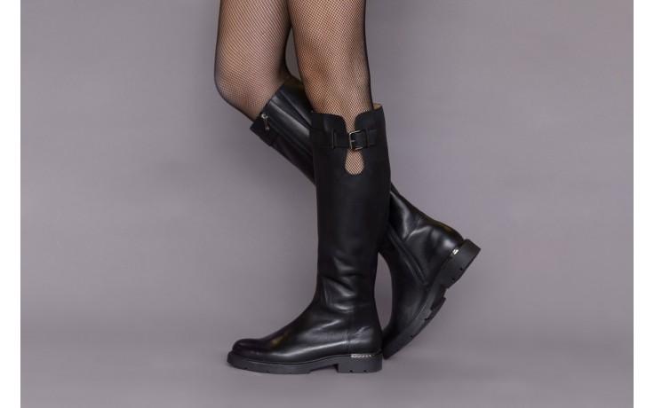 Kozaki bayla-188 020 czarny, skóra naturalna - płaskie - kozaki - buty damskie - kobieta 2