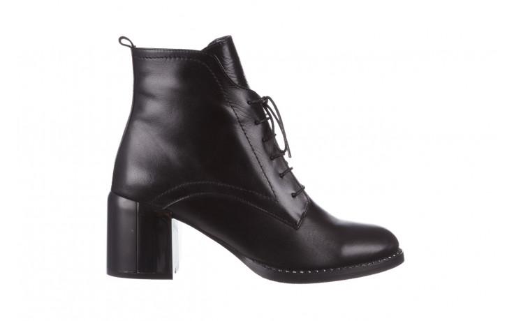 Botki bayla-195 20k-6508 black 195004, czarny, skóra naturalna  - sznurowane - botki - buty damskie - kobieta
