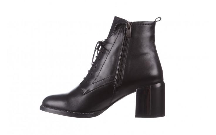 Botki bayla-195 20k-6508 black 195004, czarny, skóra naturalna  - sznurowane - botki - buty damskie - kobieta 3