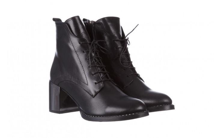 Botki bayla-195 20k-6508 black 195004, czarny, skóra naturalna  - sznurowane - botki - buty damskie - kobieta 1
