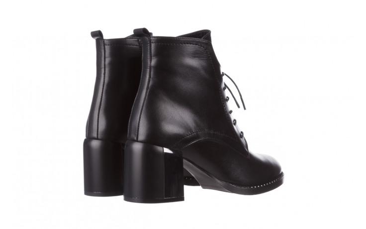 Botki bayla-195 20k-6508 black 195004, czarny, skóra naturalna  - sznurowane - botki - buty damskie - kobieta 4