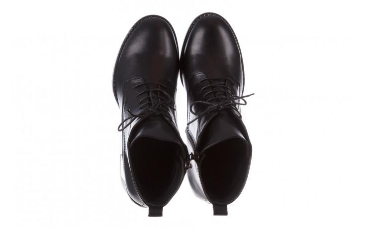 Botki bayla-195 20k-6508 black 195004, czarny, skóra naturalna  - sznurowane - botki - buty damskie - kobieta 5