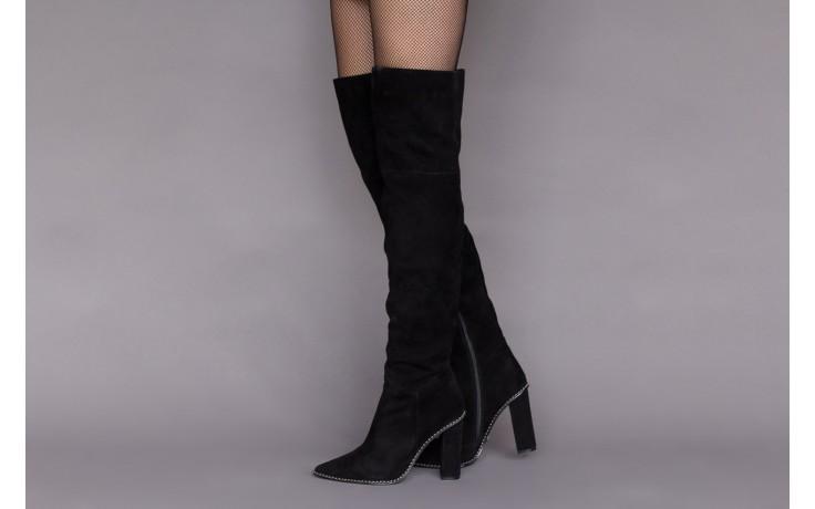 Kozaki sca'viola e-19 black suede, czarny, skóra naturalna - kozaki - buty damskie - kobieta 2