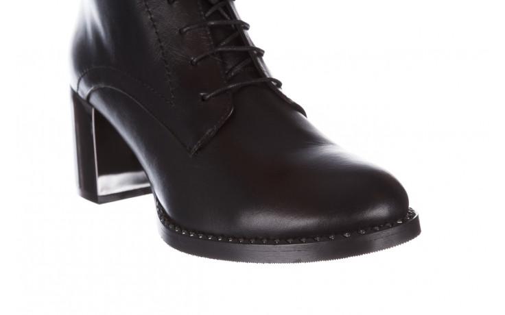 Botki bayla-195 20k-6508 black 195004, czarny, skóra naturalna  - sznurowane - botki - buty damskie - kobieta 6