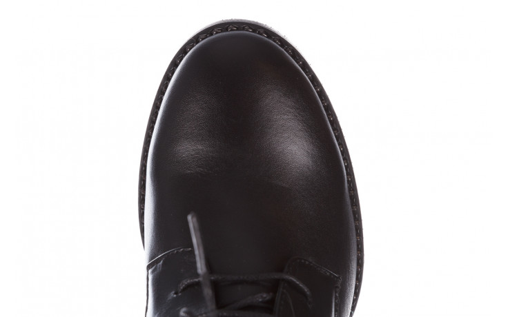 Botki bayla-195 20k-6508 black 195004, czarny, skóra naturalna  - sznurowane - botki - buty damskie - kobieta 7