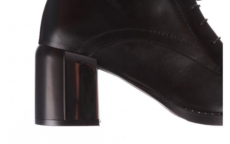 Botki bayla-195 20k-6508 black 195004, czarny, skóra naturalna  - sznurowane - botki - buty damskie - kobieta 8