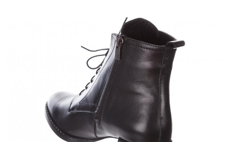 Botki bayla-195 20k-6508 black 195004, czarny, skóra naturalna  - sznurowane - botki - buty damskie - kobieta 9