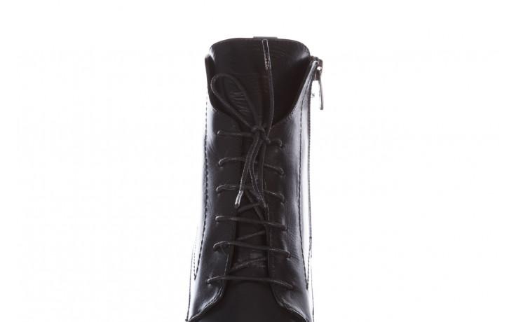 Botki bayla-195 20k-6508 black 195004, czarny, skóra naturalna  - sznurowane - botki - buty damskie - kobieta 10