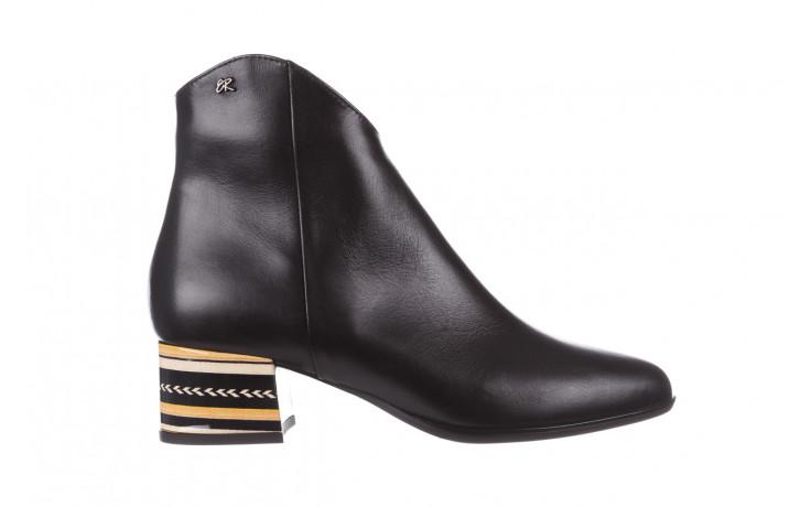 Botki bayla-056 9651-08 czarny 056519, skóra naturalna  - skórzane - botki - buty damskie - kobieta