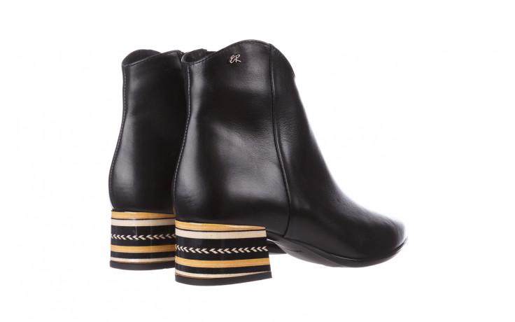 Botki bayla-056 9651-08 czarny 056519, skóra naturalna  - skórzane - botki - buty damskie - kobieta 4