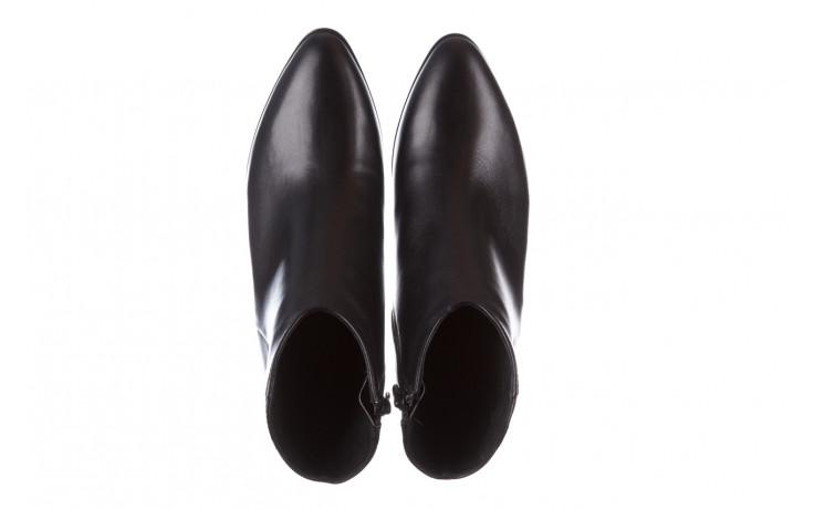 Botki bayla-056 9651-08 czarny 056519, skóra naturalna  - skórzane - botki - buty damskie - kobieta 5