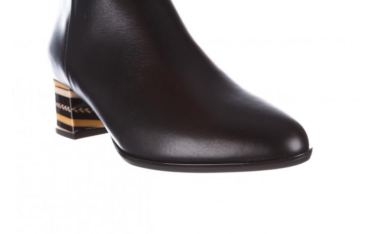 Botki bayla-056 9651-08 czarny 056519, skóra naturalna  - skórzane - botki - buty damskie - kobieta 6