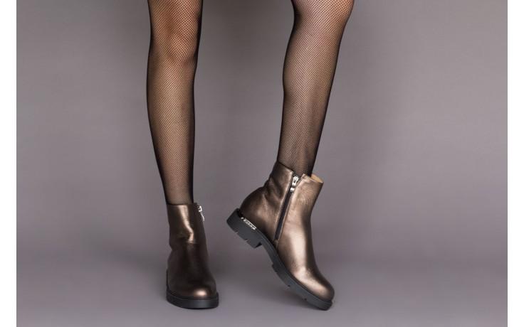 Trzewiki bayla-188 022 groszek brąz, skóra naturalna - trzewiki - buty damskie - kobieta 2