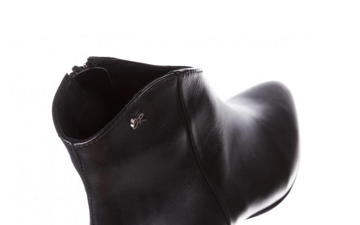 Botki bayla-056 9651-08 czarny 056519, skóra naturalna  - skórzane - botki - buty damskie - kobieta 7