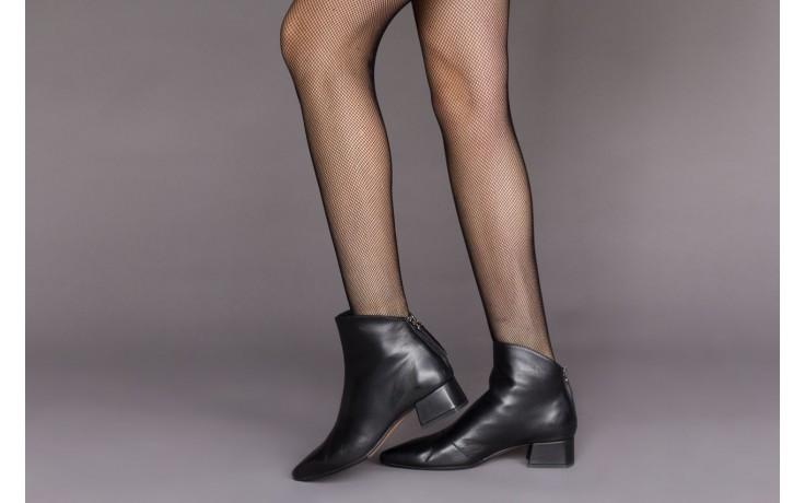 Botki bayla-188 004 czarny lico, skóra naturalna - skórzane - botki - buty damskie - kobieta 2