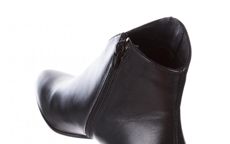 Botki bayla-056 9651-08 czarny 056519, skóra naturalna  - skórzane - botki - buty damskie - kobieta 9