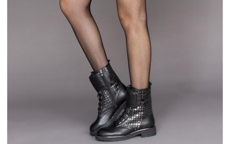 Trzewiki sca'viola p-35 black, czarny, skóra naturalna - trzewiki - buty damskie - kobieta 2