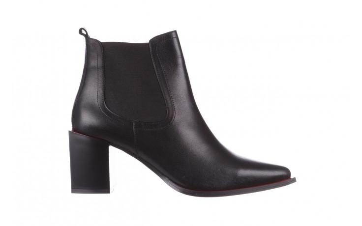 Botki bayla-195 20k-7200 black 195012, czarny, skóra naturalna  - skórzane - botki - buty damskie - kobieta