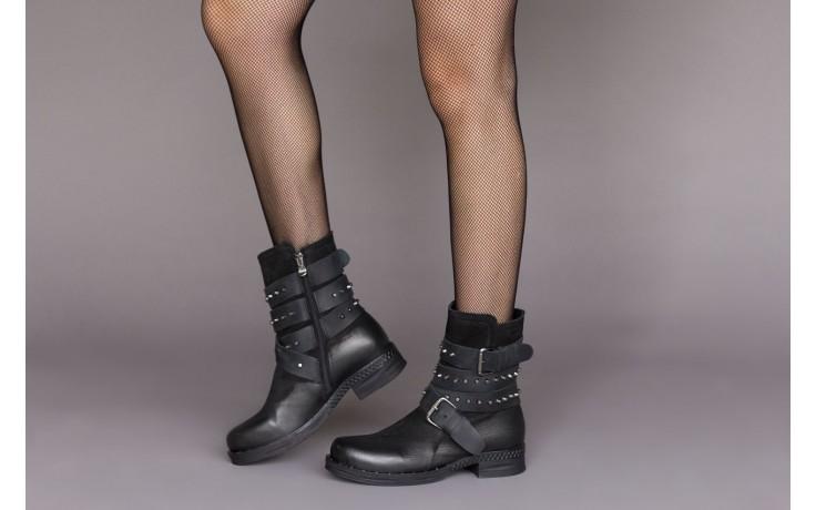 Trzewiki bayla-161 050-2341 black, czarny, skóra naturalna  - trzewiki - buty damskie - kobieta 2