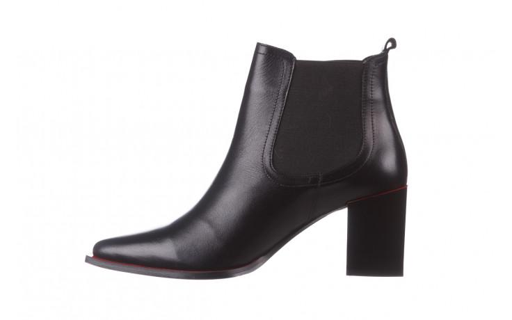 Botki bayla-195 20k-7200 black 195012, czarny, skóra naturalna  - skórzane - botki - buty damskie - kobieta 3