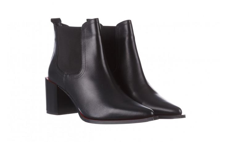 Botki bayla-195 20k-7200 black 195012, czarny, skóra naturalna  - skórzane - botki - buty damskie - kobieta 1
