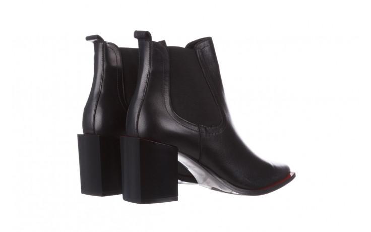 Botki bayla-195 20k-7200 black 195012, czarny, skóra naturalna  - skórzane - botki - buty damskie - kobieta 4