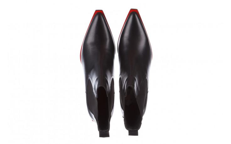 Botki bayla-195 20k-7200 black 195012, czarny, skóra naturalna  - skórzane - botki - buty damskie - kobieta 5