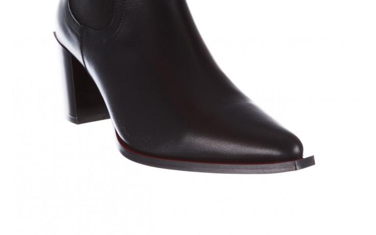Botki bayla-195 20k-7200 black 195012, czarny, skóra naturalna  - skórzane - botki - buty damskie - kobieta 6