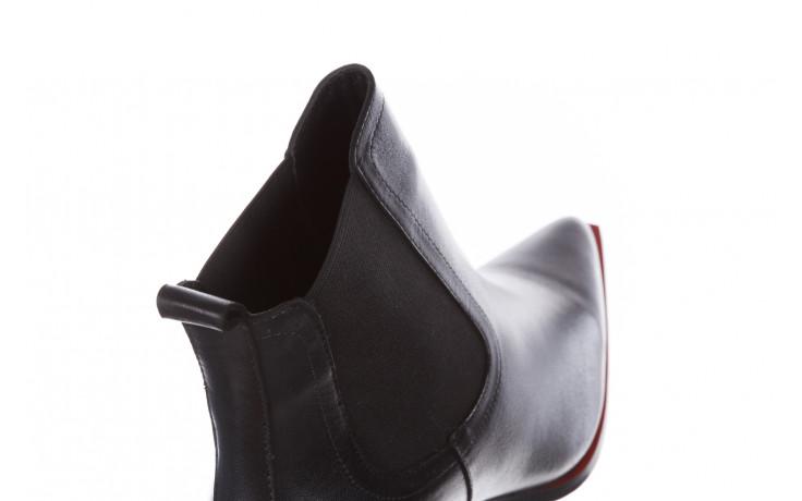 Botki bayla-195 20k-7200 black 195012, czarny, skóra naturalna  - skórzane - botki - buty damskie - kobieta 9