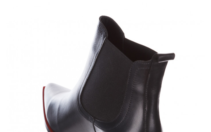 Botki bayla-195 20k-7200 black 195012, czarny, skóra naturalna  - skórzane - botki - buty damskie - kobieta 7
