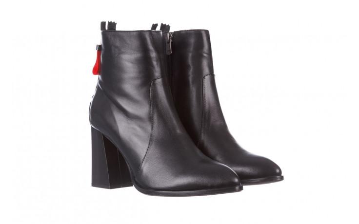 Botki bayla-195 20k-7001 black 195021, czarny, skóra naturalna  - skórzane - botki - buty damskie - kobieta 1