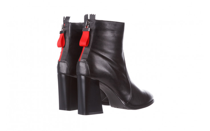 Botki bayla-195 20k-7001 black 195021, czarny, skóra naturalna  - skórzane - botki - buty damskie - kobieta 4