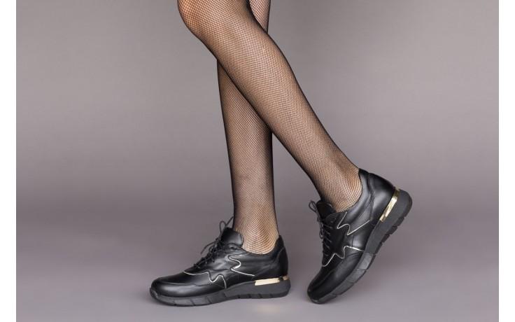 Trampki bayla-157 b026-076-p czarny, skóra naturalna - niskie - trampki - buty damskie - kobieta 2
