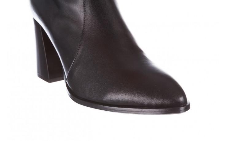 Botki bayla-195 20k-7001 black 195021, czarny, skóra naturalna  - skórzane - botki - buty damskie - kobieta 7