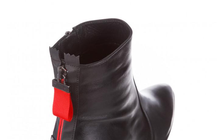 Botki bayla-195 20k-7001 black 195021, czarny, skóra naturalna  - skórzane - botki - buty damskie - kobieta 6
