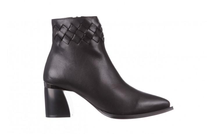 Botki bayla-195 20k-6811 black 195005, czarny, skóra naturalna  - skórzane - botki - buty damskie - kobieta
