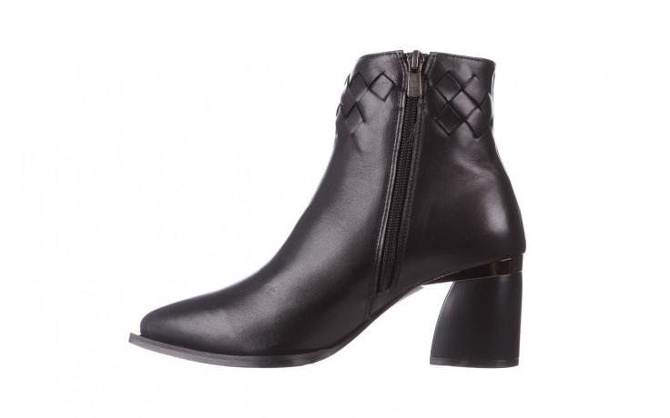 Botki bayla-195 20k-6811 black 195005, czarny, skóra naturalna  - skórzane - botki - buty damskie - kobieta 3