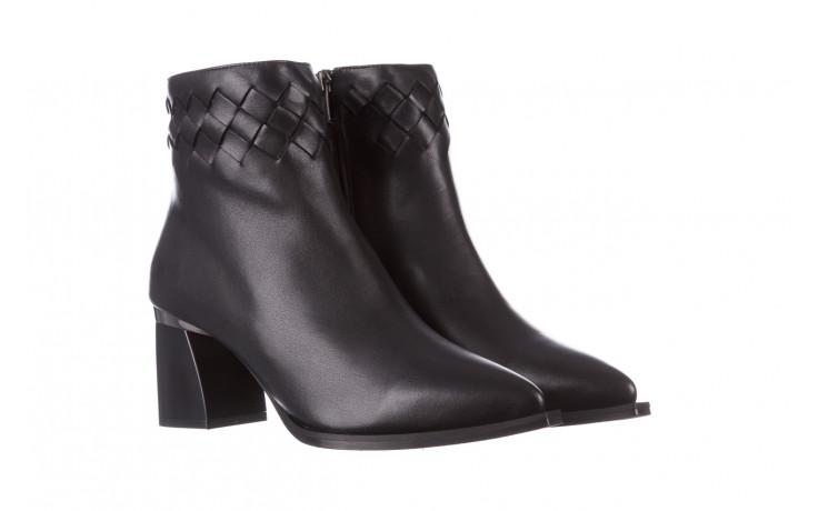 Botki bayla-195 20k-6811 black 195005, czarny, skóra naturalna  - skórzane - botki - buty damskie - kobieta 1