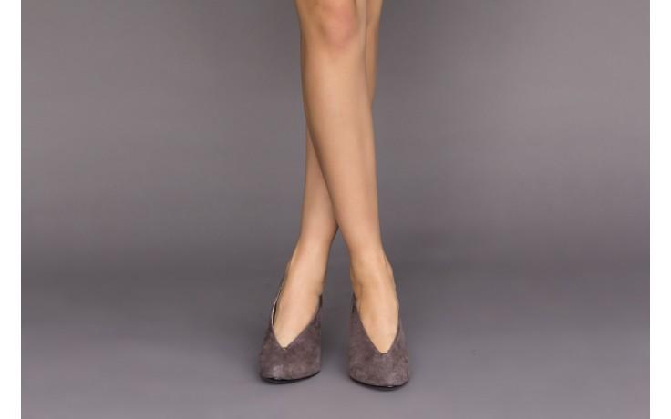 Czółenka bayla-056 9147-1462 szary, skóra naturalna  - zamszowe - czółenka - buty damskie - kobieta 2