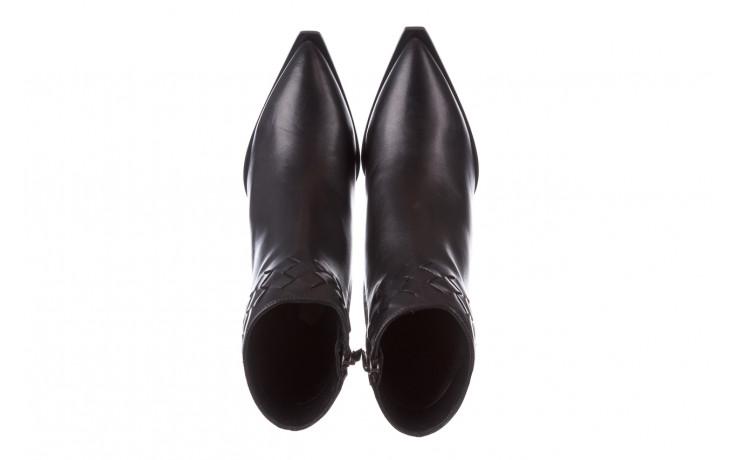 Botki bayla-195 20k-6811 black 195005, czarny, skóra naturalna  - skórzane - botki - buty damskie - kobieta 5
