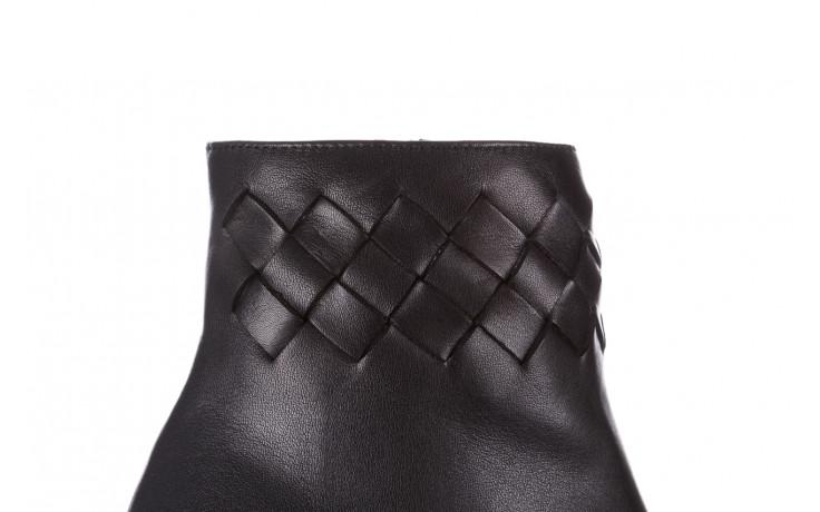 Botki bayla-195 20k-6811 black 195005, czarny, skóra naturalna  - skórzane - botki - buty damskie - kobieta 6