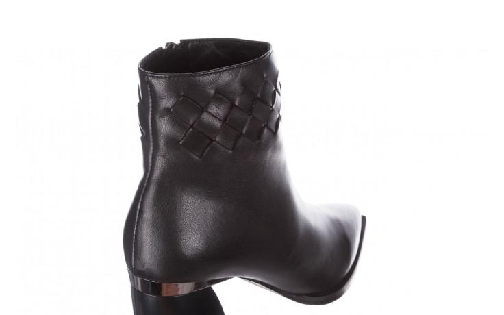 Botki bayla-195 20k-6811 black 195005, czarny, skóra naturalna  - skórzane - botki - buty damskie - kobieta 7