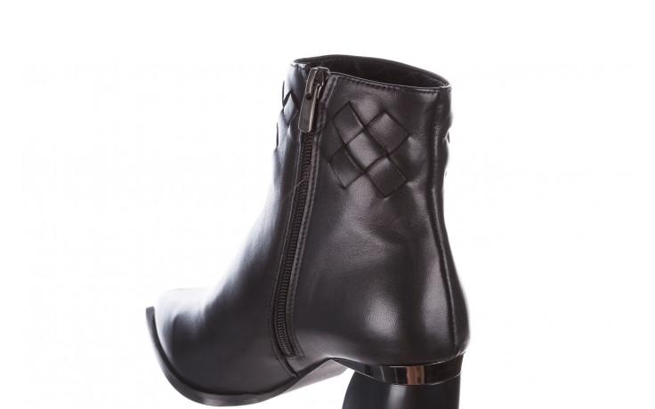 Botki bayla-195 20k-6811 black 195005, czarny, skóra naturalna  - skórzane - botki - buty damskie - kobieta 8