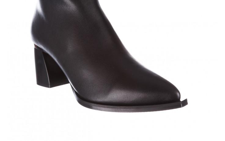 Botki bayla-195 20k-6811 black 195005, czarny, skóra naturalna  - skórzane - botki - buty damskie - kobieta 10