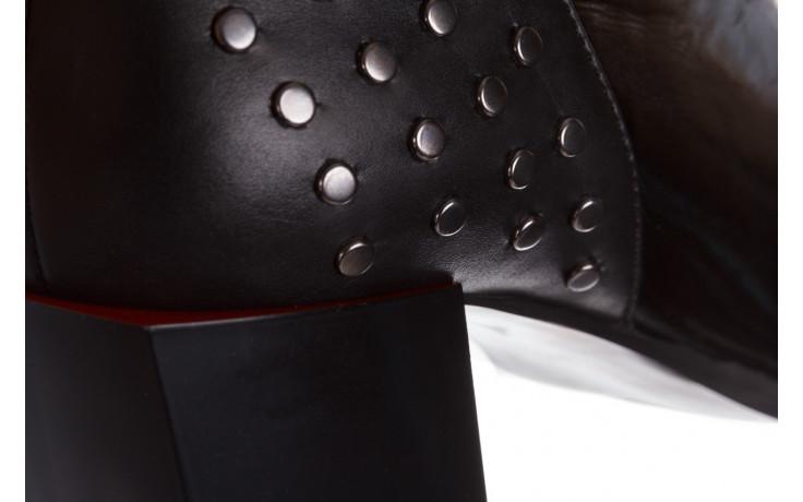 Botki bayla-195 20k-7205 black 195015, czarny, skóra naturalna  - botki i trzewiki - dla niej  - sale 11