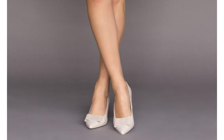 Czółenka bayla-056 9404-1459 beż perła, skóra naturalna  - skórzane - czółenka - buty damskie - kobieta 2