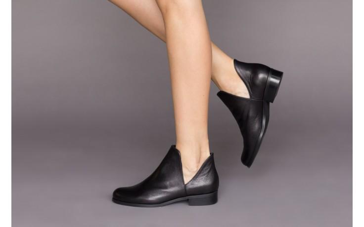 Botki bayla-157 b028-126-p czarny, skóra naturalna - zamszowe - botki - buty damskie - kobieta 2